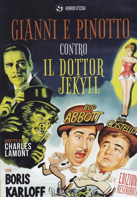 Gianni e Pinotto contro il Dottor Jekyll di Charles Lamont - DVD