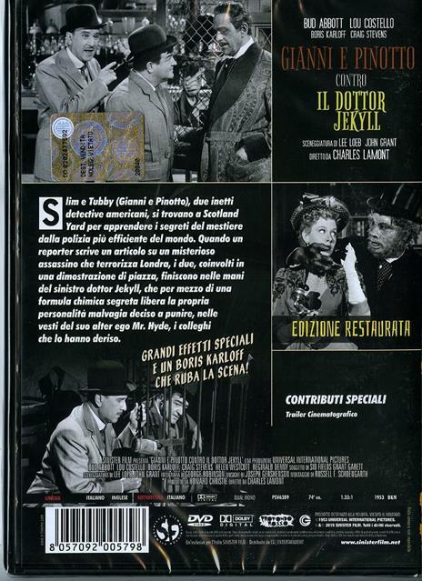 Gianni e Pinotto contro il Dottor Jekyll di Charles Lamont - DVD - 2