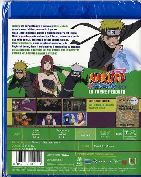 Naruto Shippuden. Il film. La torre perduta di Masahiko Murata - Blu-ray - 2