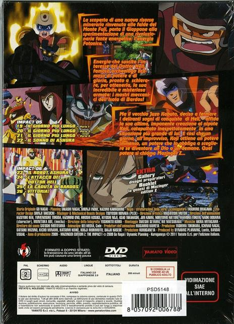 Mazinger. Edition Z. The Impact. Box 3 (2 DVD) di Yasuhiro Imagawa - DVD - 2