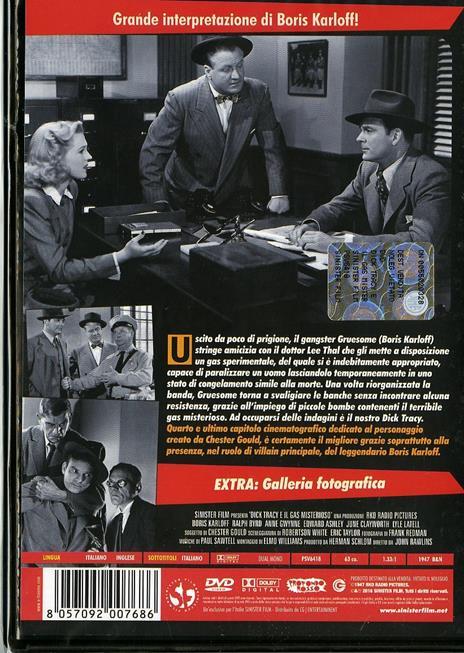 Dick Tracy e il gas misterioso di John Rawlins - DVD - 2
