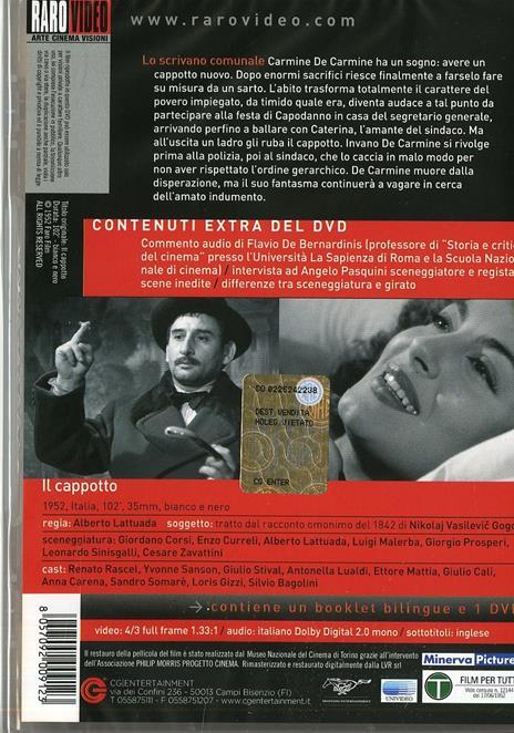 Il cappotto di Alberto Lattuada - DVD - 2