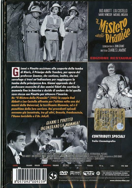 Il mistero della piramide. Edizione restaurata di Charles Lamont - DVD - 2
