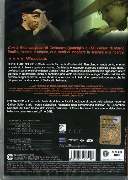 Con il fiato sospeso. Itis Galileo di Costanza Quatriglio - DVD - 2