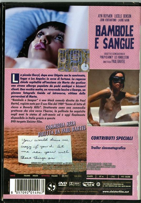 Bambole e sangue di Paul Bartel - DVD - 2