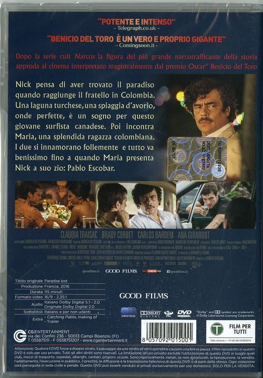 Escobar (DVD) di Andrea Di Stefano - DVD - 2