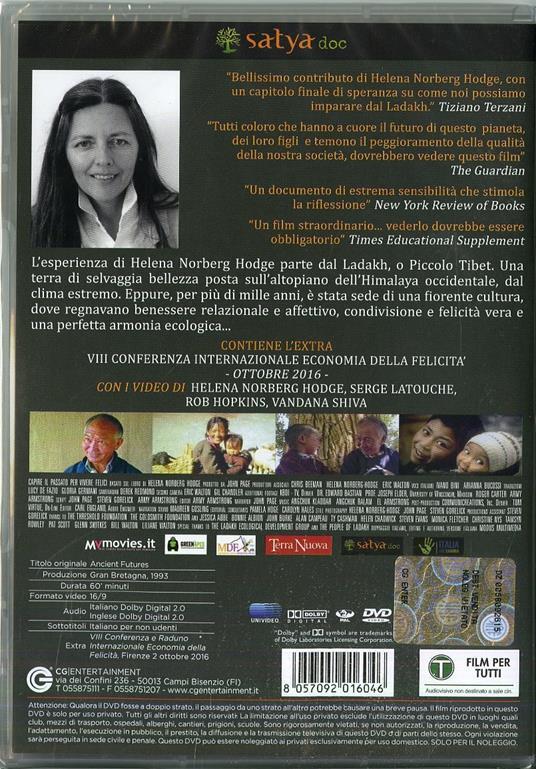 Capire il passato per vivere felici (DVD) di Helena Norberg-Hodge,John Page - DVD - 2