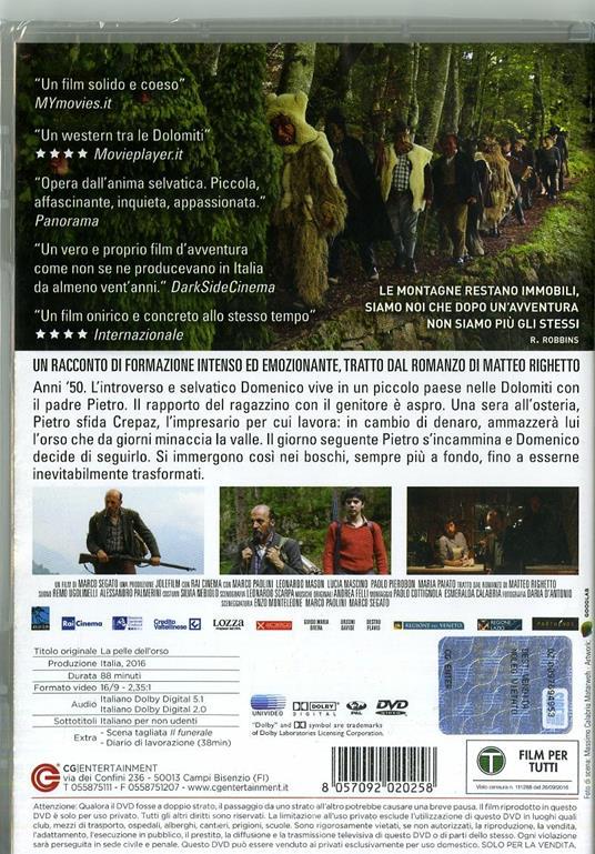 La pelle dell`orso (DVD)  di Marco Segato - DVD - 7