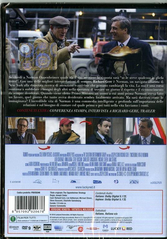 L' incredibile vita di Norman (DVD) di Joseph Cedar - DVD - 6