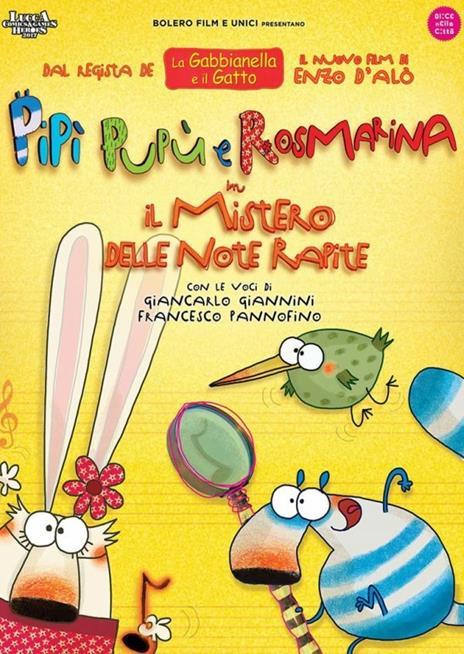 """Pipì, Pupù e Rosmarina in """"Il mistero delle note sparite"""" (DVD) di Enzo D'Alò - DVD"""