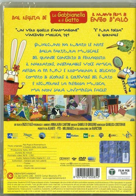 """Pipì, Pupù e Rosmarina in """"Il mistero delle note sparite"""" (DVD) di Enzo D'Alò - DVD - 7"""