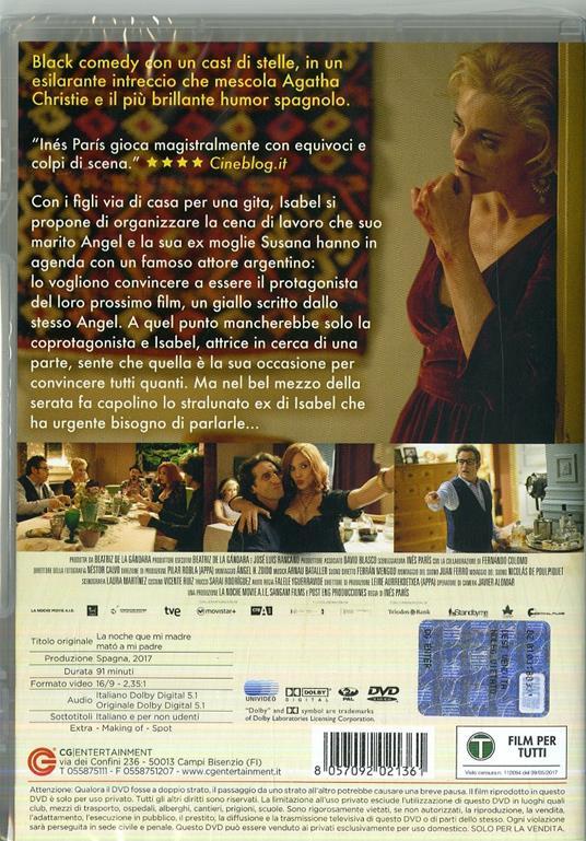 La notte che mia madre ammazzò mio padre (DVD) di Inés París - DVD - 5