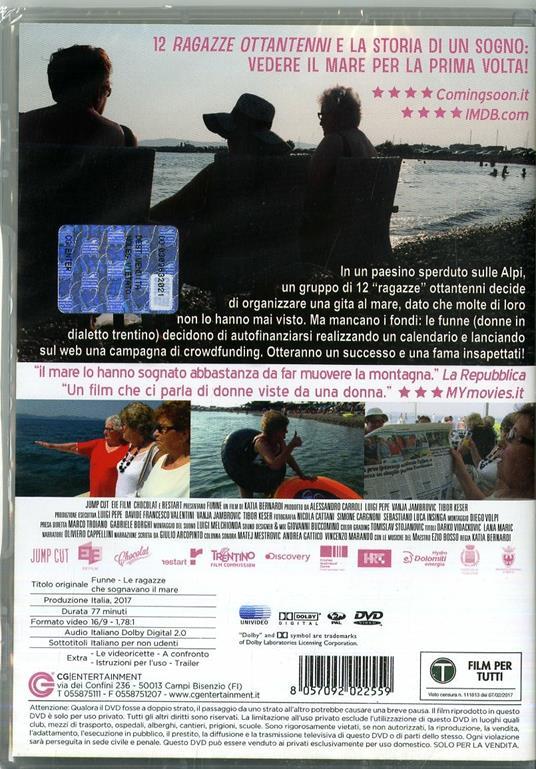 Funne. Le ragazze che sognavano il mare (DVD) di Katia Bernardi - DVD - 2