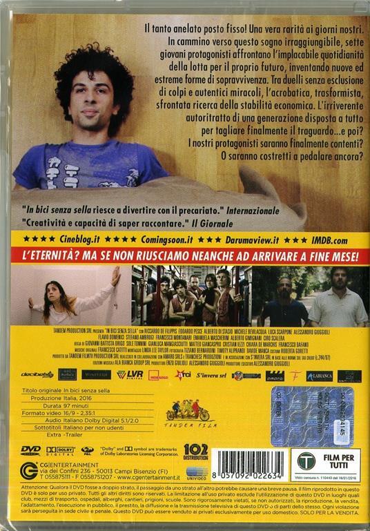 In bici senza sella (DVD) di Origo,Tonnini,Mangiasciutti,Giancaspro,Iezzi,De Marchis,Dafano - DVD - 2
