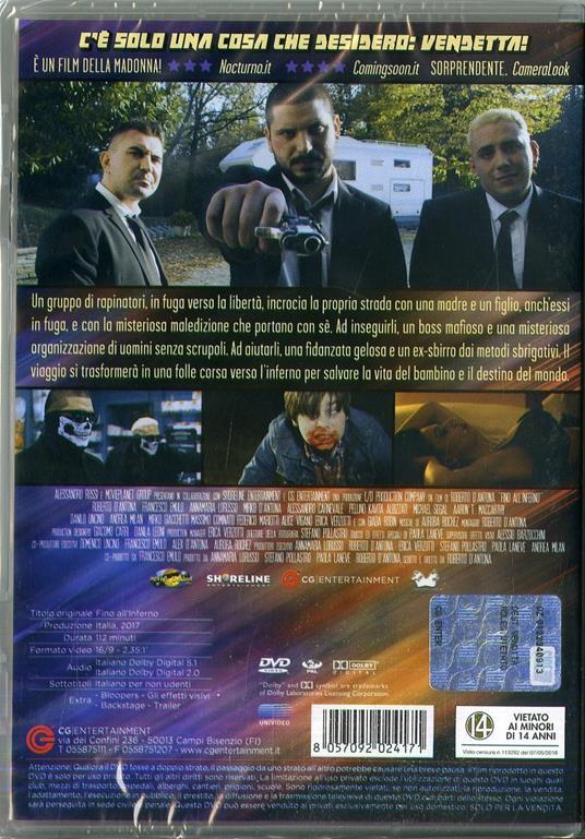 Fino all'inferno (DVD) di Roberto D'Antona - DVD - 2