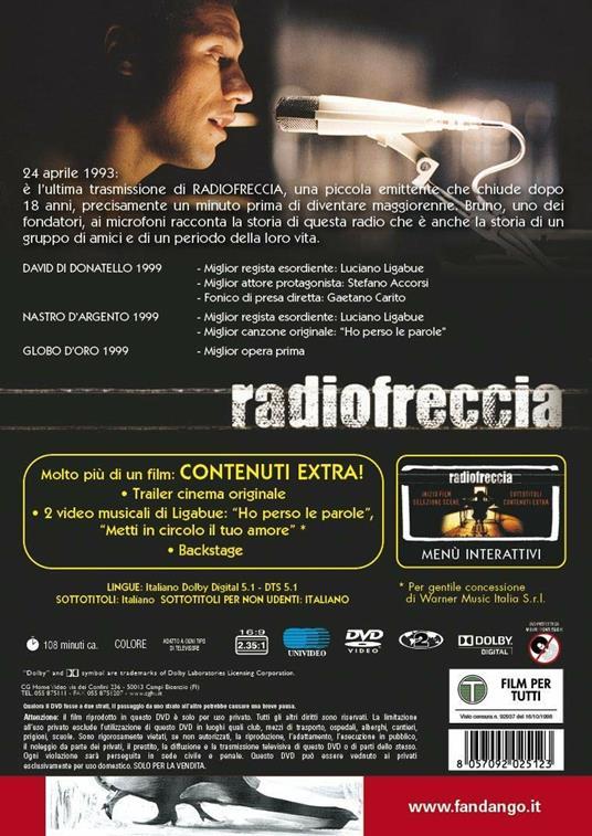 Radiofreccia (DVD) di Luciano Ligabue - DVD - 2