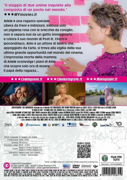 In viaggio con Adele (DVD) di Alessandro Capitani - DVD - 2