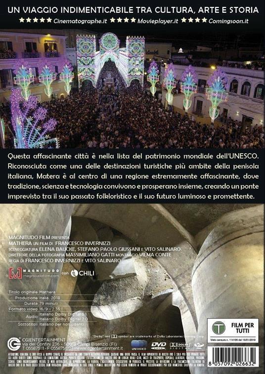 Mathera (DVD) di Francesco Invernizzi,Vito Salinaro - DVD - 2