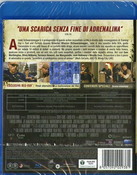 Sabotage (Blu-ray) di David Ayer - Blu-ray - 2