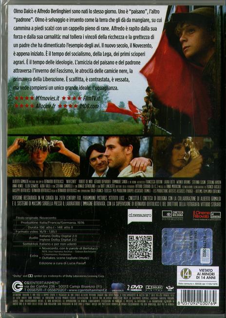 Novecento. Parte 1 + Parte2 (2 DVD) di Bernardo Bertolucci - DVD - 2
