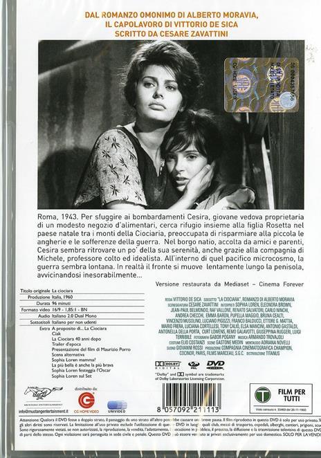 La ciociara di Vittorio De Sica - DVD - 2