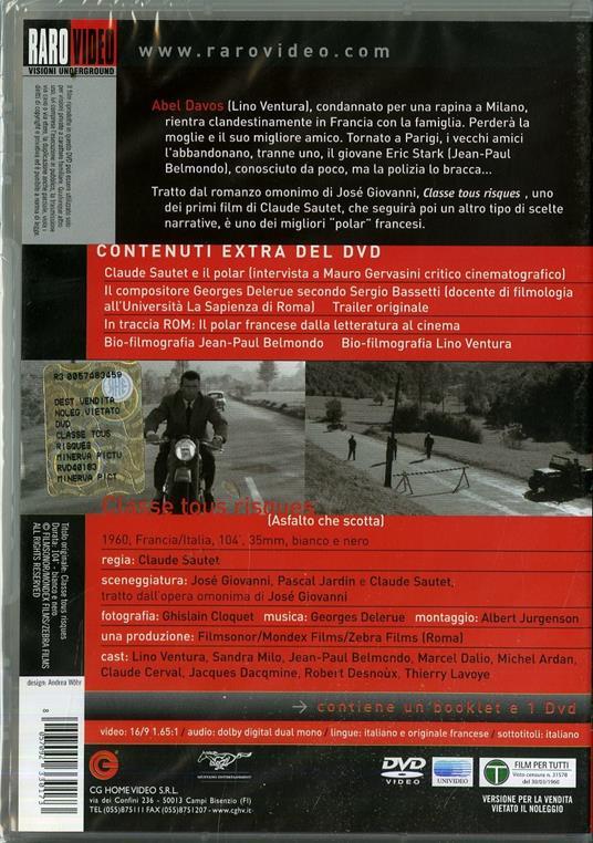 Asfalto che scotta di Claude Sautet - DVD - 2