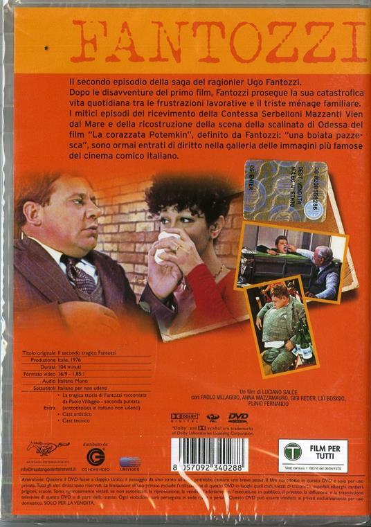 Il secondo tragico Fantozzi di Luciano Salce - DVD - 2