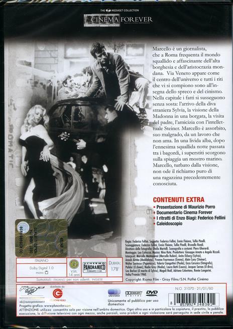 La dolce vita (2 DVD)<span>.</span> Collector's Edition di Federico Fellini - DVD - 2