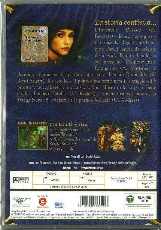 Fantaghirò 4 (2 DVD) di Lamberto Bava - DVD - 2