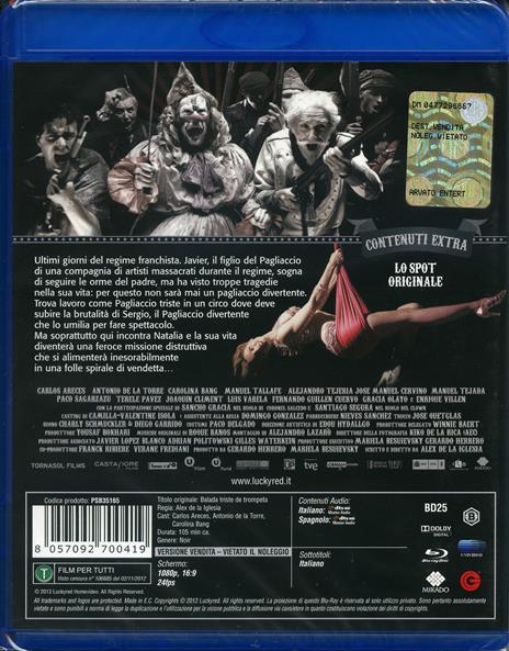 Ballata dell'odio e dell'amore di Alex De La Iglesia - Blu-ray - 2