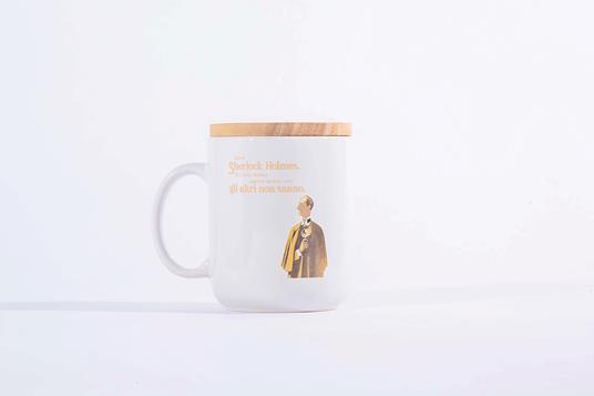 Tazza Mug OpenWorlds Lettura Sherlock Holmes con coperchio