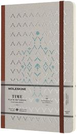 Taccuino Moleskine Time Limited Edition large a pagine bianche. Marrone