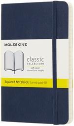 Taccuino Moleskine pocket a quadretti copertina morbida blu. Sapphire Blue