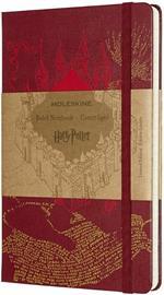 Taccuino Moleskine Harry Potter Limited Edition large a righe. Mappa del Malandrino. Rosso