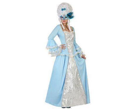 Costume Per Adulti Cortigiana Azzurro Xl - 5