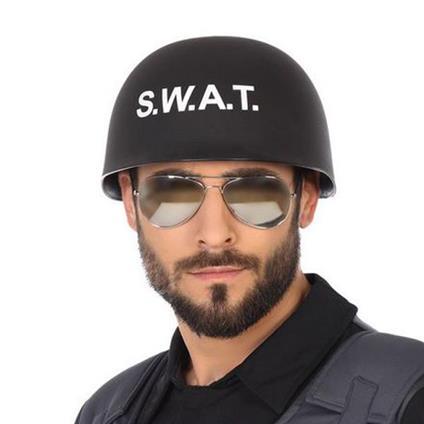 Casco Poliziotto Swat Nero