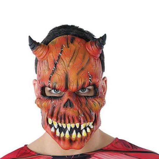 Maschera Halloween Demonio Scheletro Rosso (21 X 25 Cm)