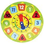 Puzzle Orologio Giocattolo per Bambini in Legno Gioco Educativo con Numeri 30cm