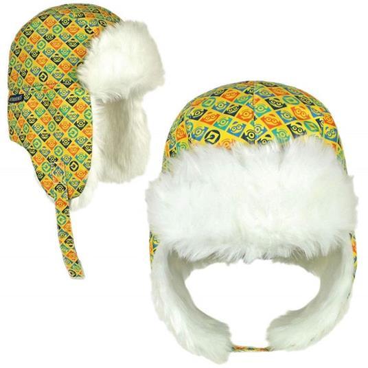 Cappello Russo Con Pelliccia Per Bambino Minions Taglia Unica Con Copri Orecchie