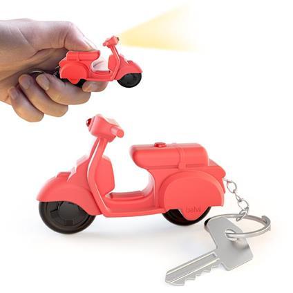 Portachiavi Scooter sonoro rosso 3xAG10 incl.