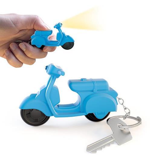 Portachiavi Scooter sonoro azzurro 3xAG10 inc