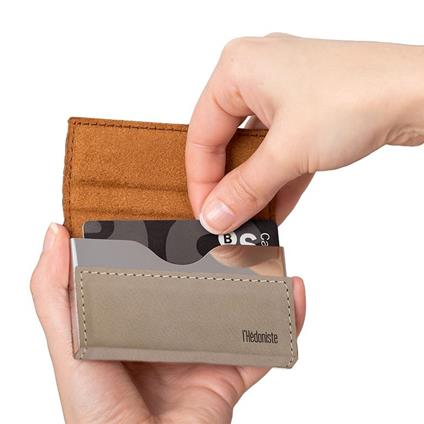 Mini-portafoglio l'Hédoniste beige fintapell
