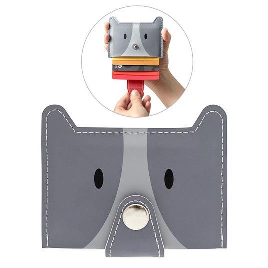 Porta carte di credito Zoo-wallet grigio