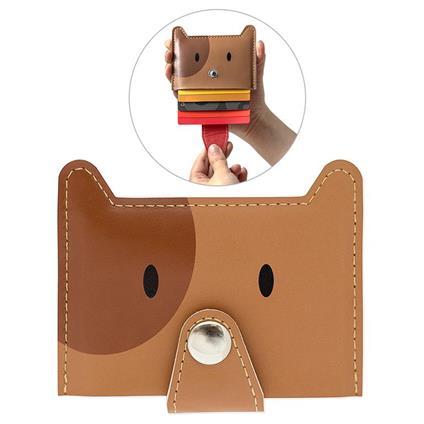 Porta carte di credito Zoo-wallet marrone