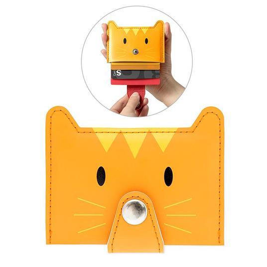 Porta carte di credito Zoo-wallet arancio