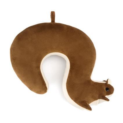 Cuscinodaviaggio Squirrel marrone cottone