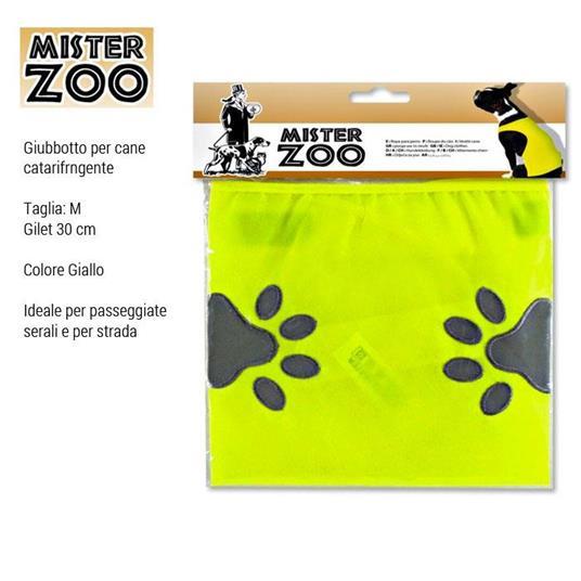 Giubbotto Riflettente Gilet Vestito Catarifrangente Cani Animali Sicurezza 30 cm