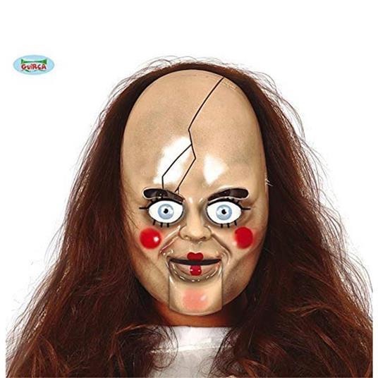 Maschera In Pvc Bambola Horror Halloween