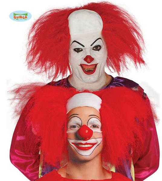 Parrucca it pagliaccio clown assassino carnevale halloween - 6