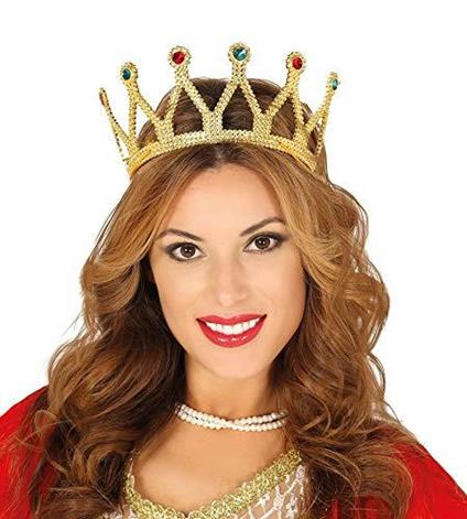 Corona diadema regina re con gemme